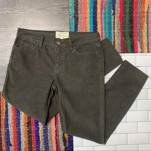 NWOT C/E Green Corduroy 'Stiletto' Skinny Pants